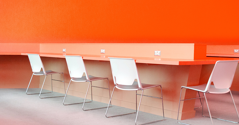 consciously select and arrange office furniture